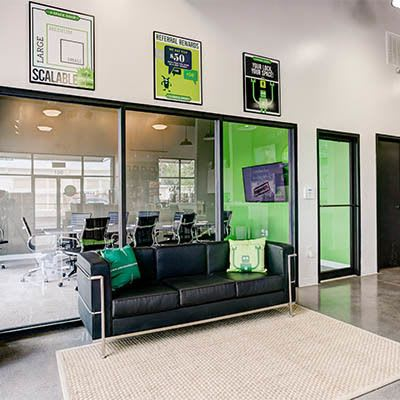 Comfortable seating in our lobbies is just one of the great features we offer at Space Shop Self Storage