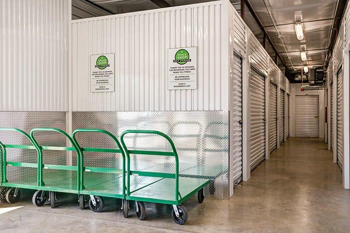 Carts to make your move-in easy at Space Shop Self Storage