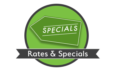 Rates and specials at Space Shop Self Storage in Greenville