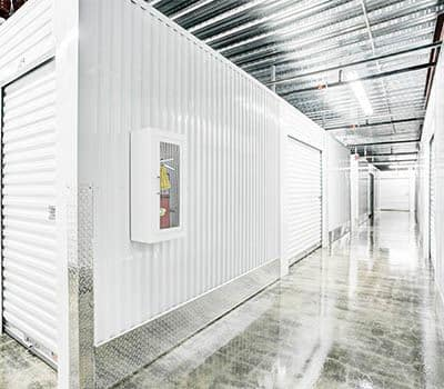 Climate Controlled storage units at a Space Shop Self Storage facility