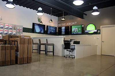 Lobby at a Space Shop Self Storage facility