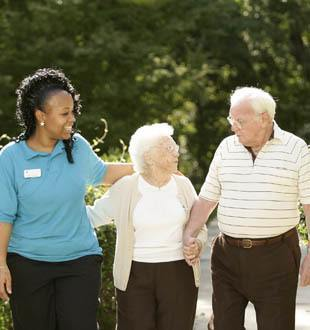 happy residents enjoy the sunshine in Long Grove