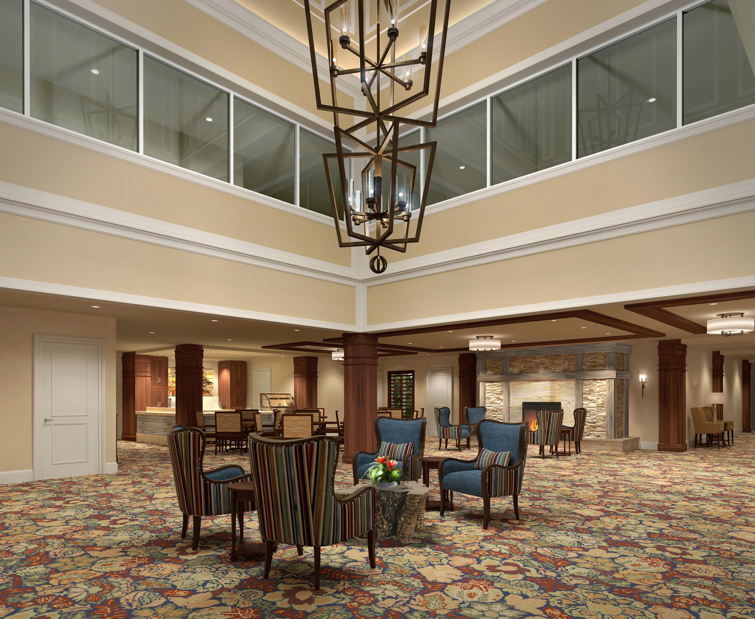 Lobby at HarborChase of Long Grove