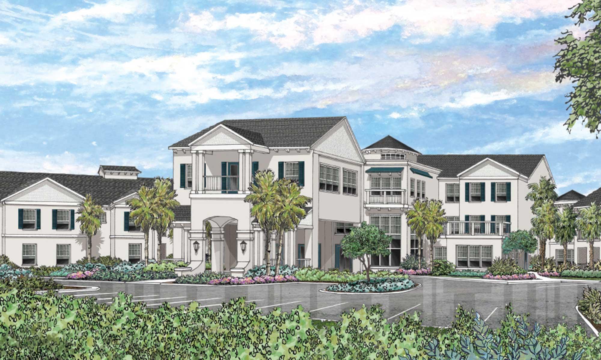 Exquisite senior living facility located in Wildwood