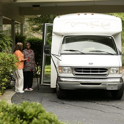 residents go on a tour at harborchase in aiken