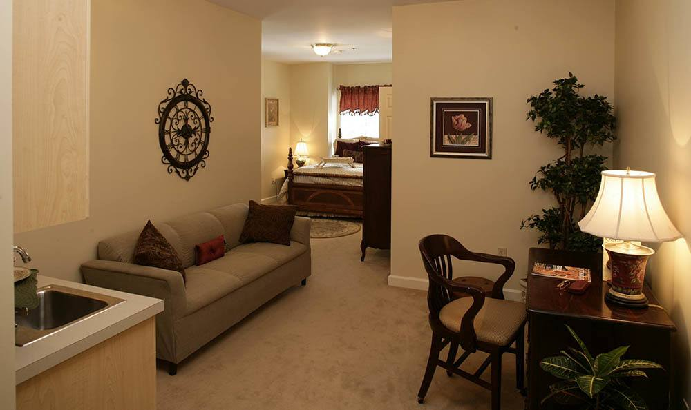 Your personal senior living facility living room in Huntsville