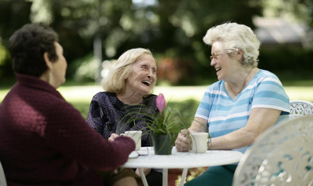 Our Palm Harbor senior living facility has lovely areas to spend time with your friends and family