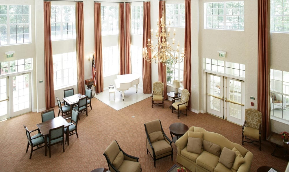 Our senior living facility living room in Palm Harbor