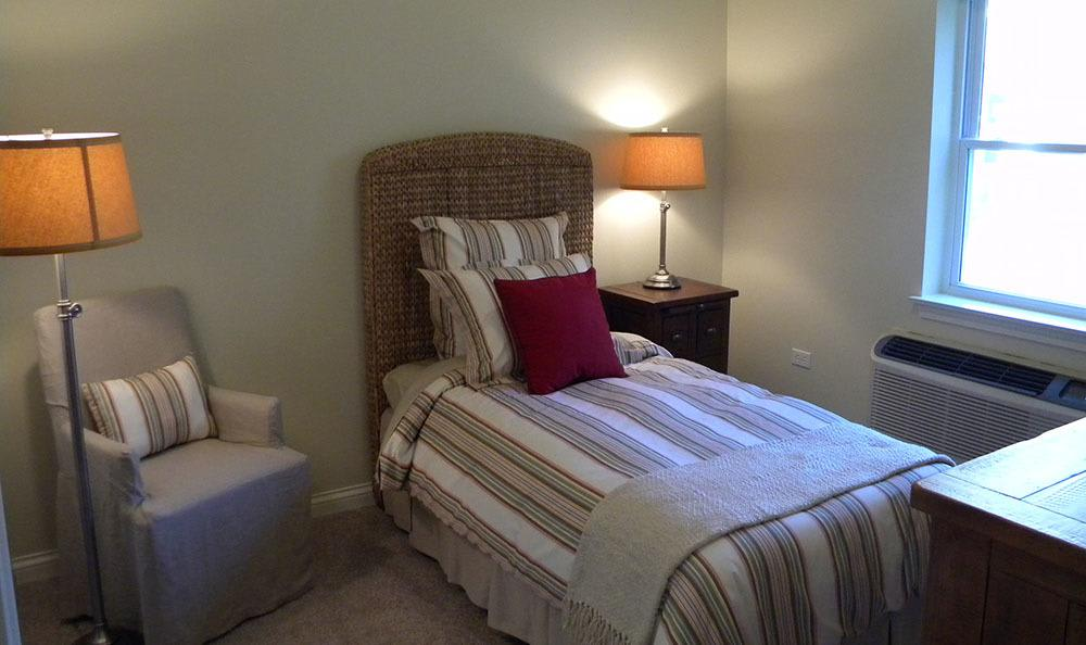 Enjoy your rest in our senior living bedrooms in Plainfield
