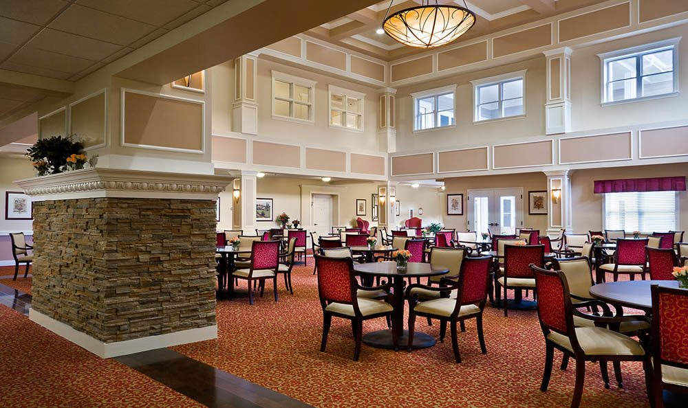 Enjoy our senior living facility banquet hall in Plainfield