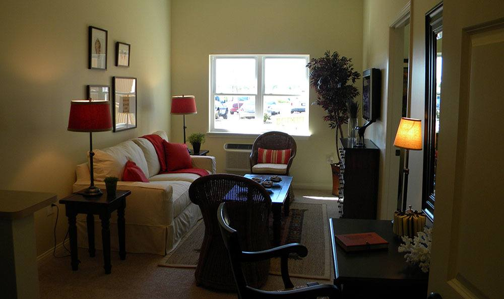 Your very own personal Plainfield senior living common room