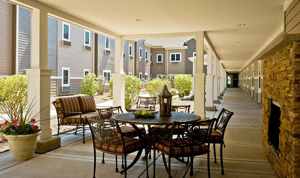 Take a relaxing and peaceful rest outside our Plainfield senior living facility