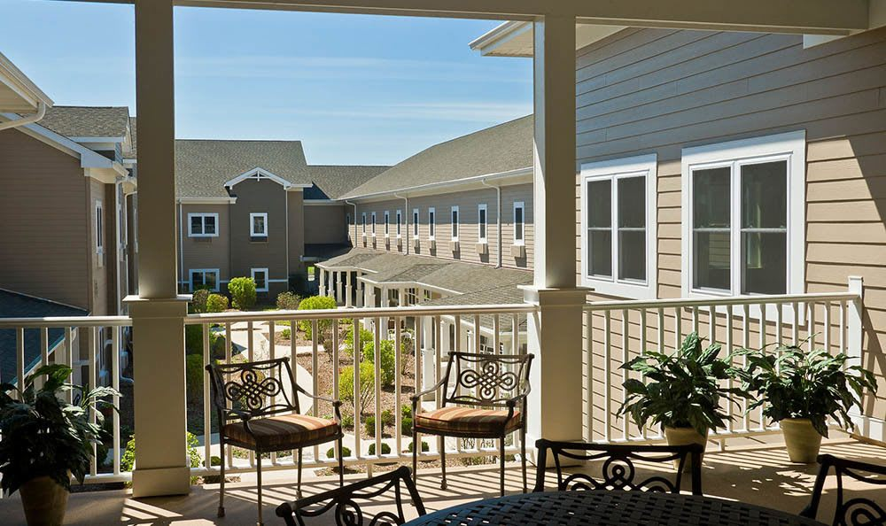 our senior living facility in Plainfield offers gorgeous patio views