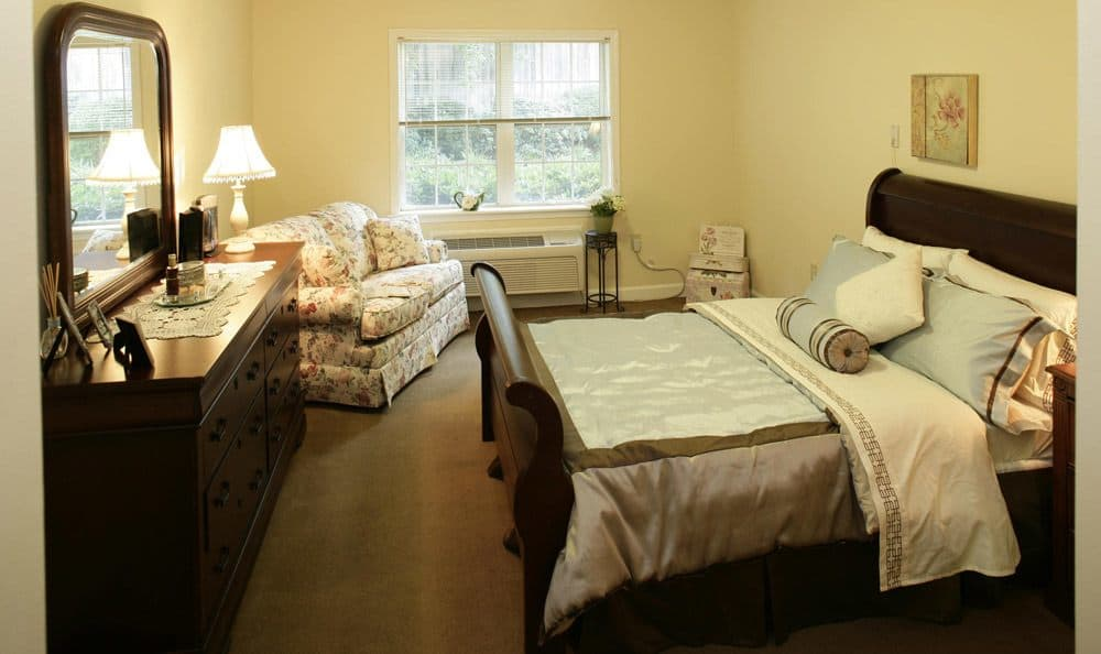 Our senior living facility bedroom in Columbia