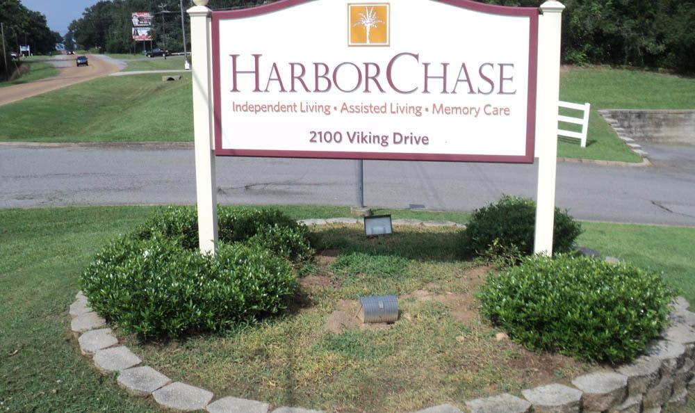 Sign leading to our senior living facility in Jasper
