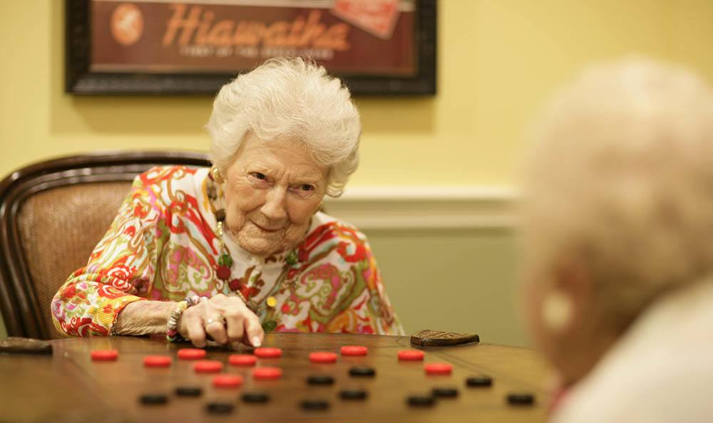 Plenty of activities like checkers at Regency Park