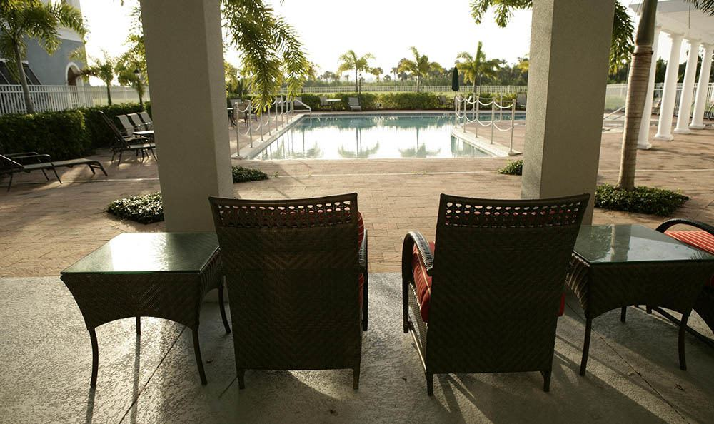 Relax by the pool at Regency Park