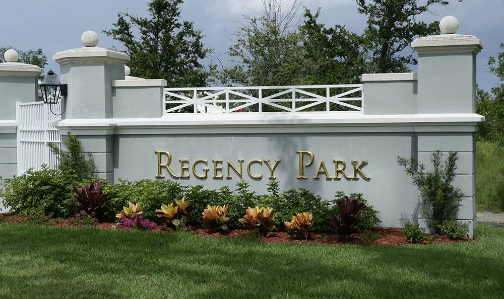 Sign of Regency Park