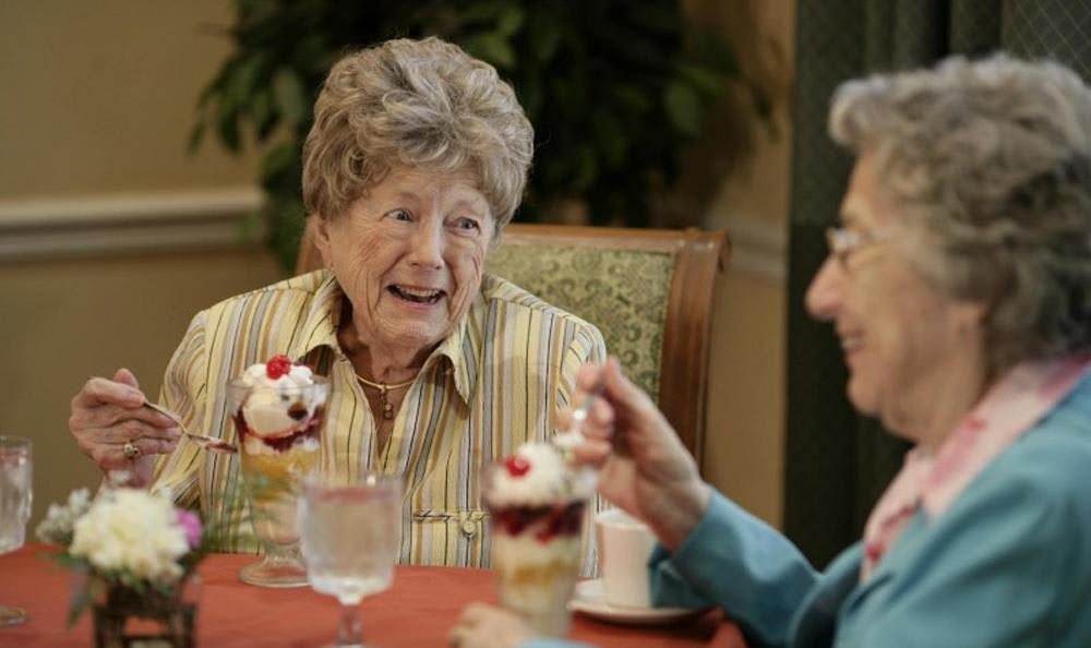 Enjoy a fancy Venice senior living facility desert with your friends