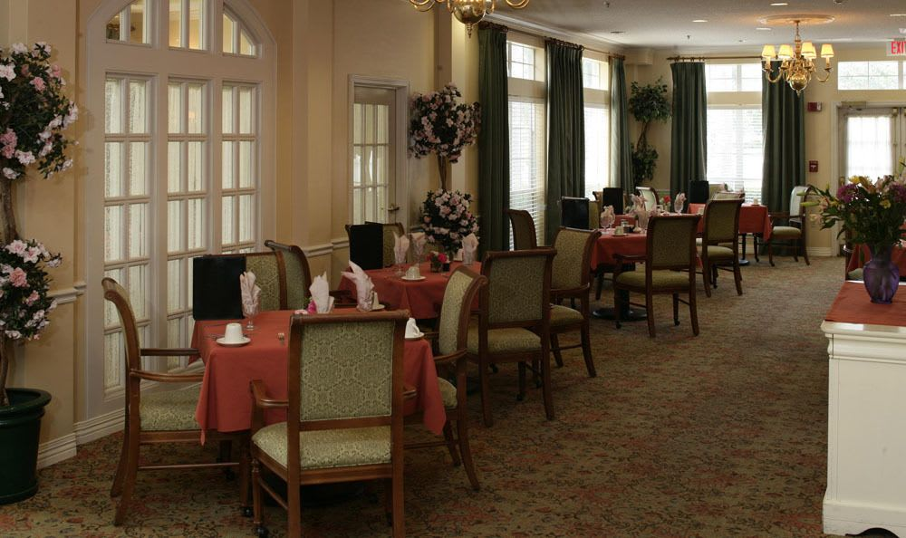 Dining Room At Our Senior Living Facility In Venice