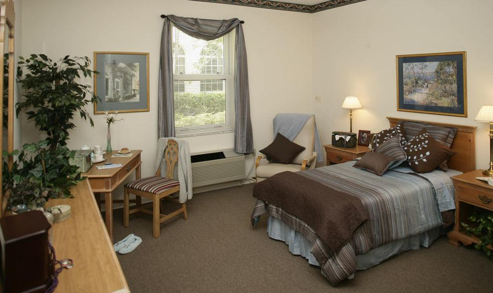 Our senior living facility bedroom in Coral Springs