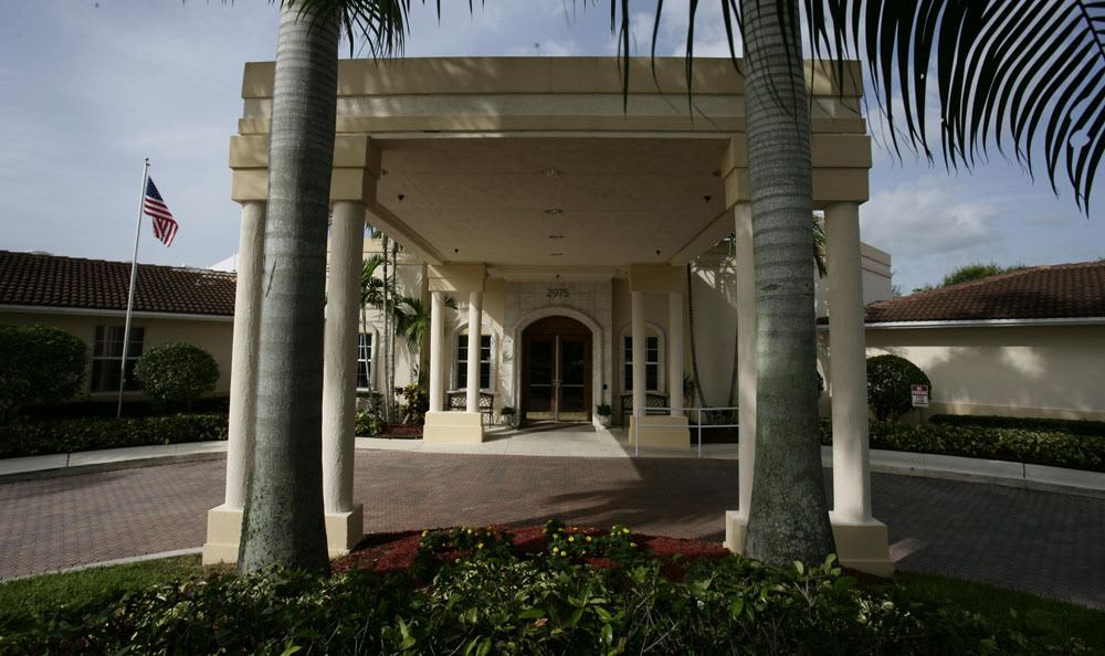 Entrance to our senior living facility in Coral Springs