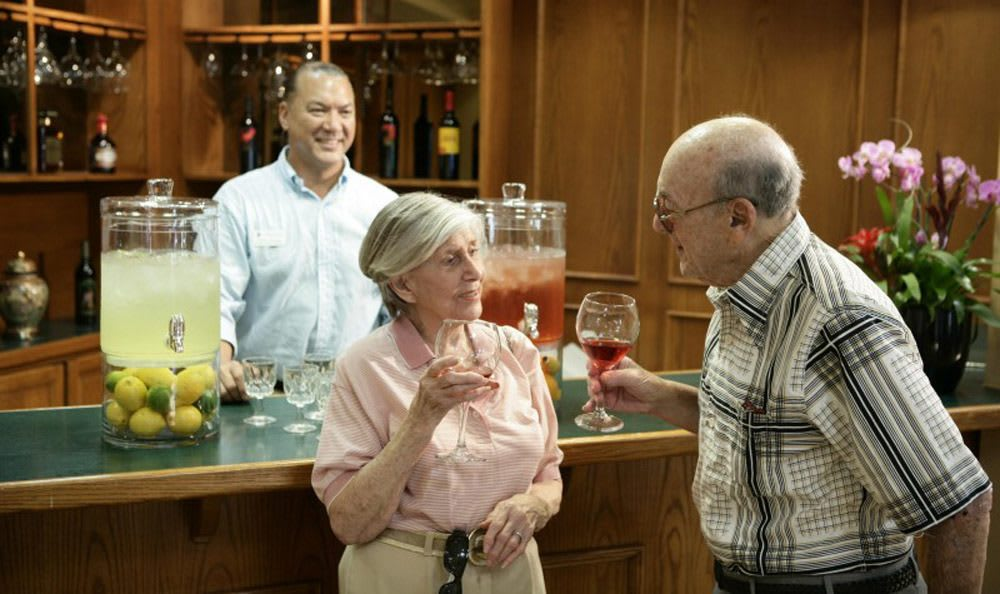 Visit our cafe in Coral Springs senior living facility and have a drink with your friends