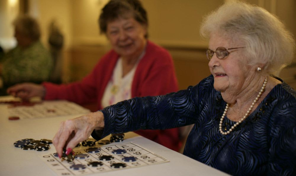 Enjoy every moment with your loved ones and play fun games at our senior living facility in Rock Hill