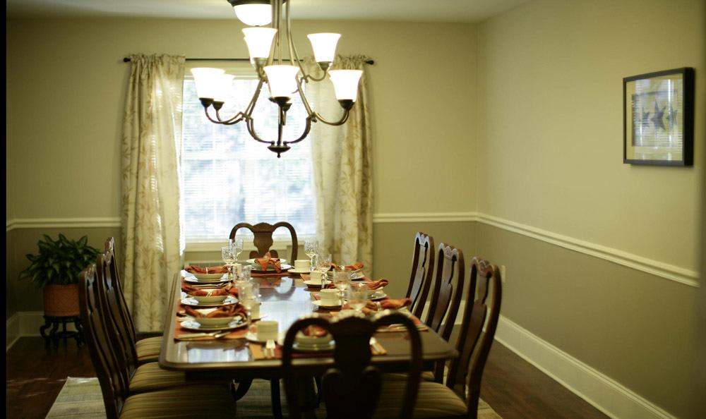 Our senior living facility diningroom in Rock Hill