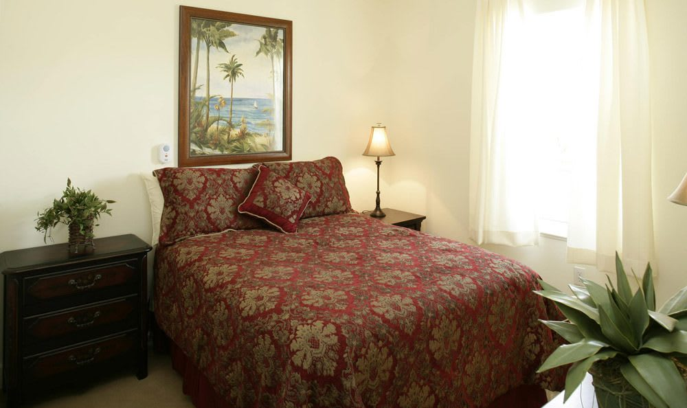 Our senior living facility bedroom in Vero Beach