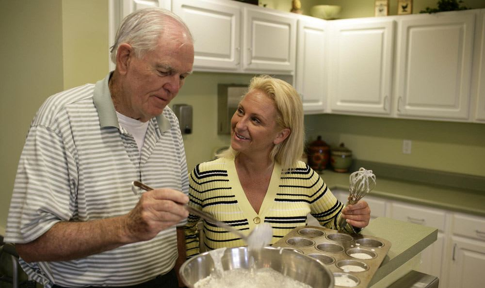 Cook with our wonderful staff at our senior living facility in Vero Beach