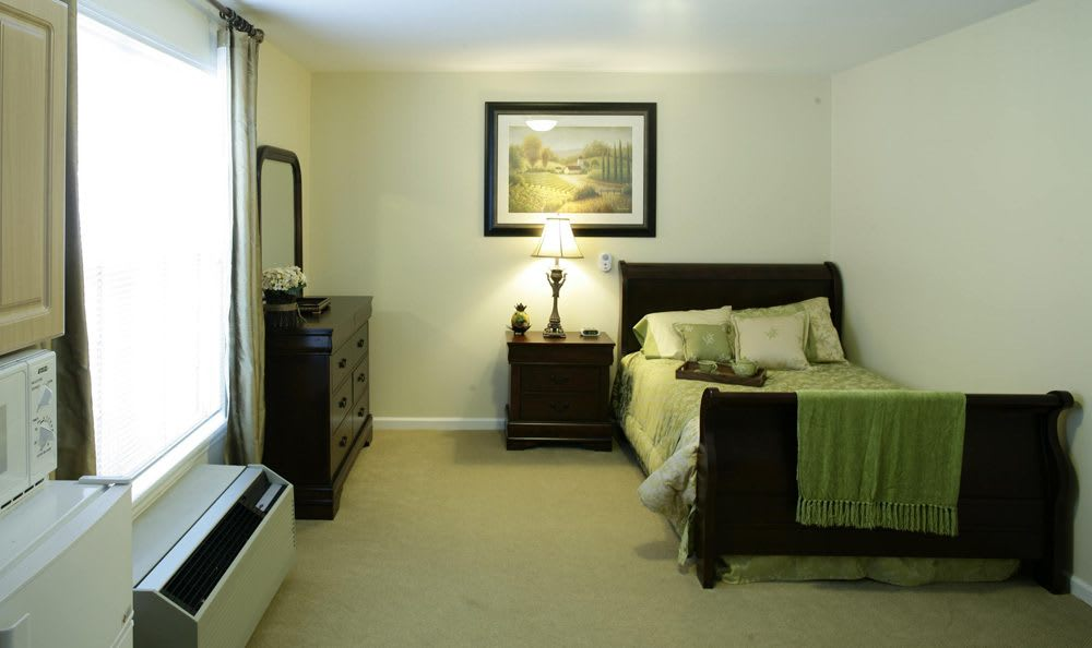 Our senior living facility bedroom in Gainesville