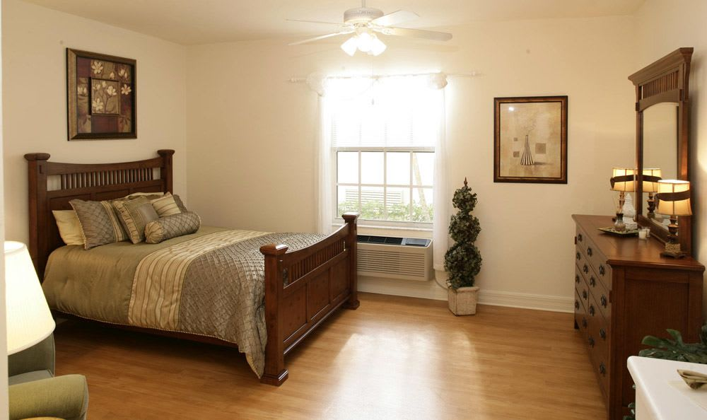 Our senior living facility bedroom in Naples