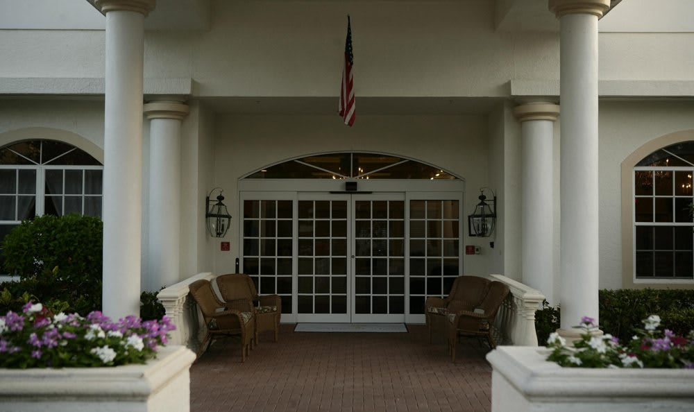 Entrance to our senior living facility in Naples