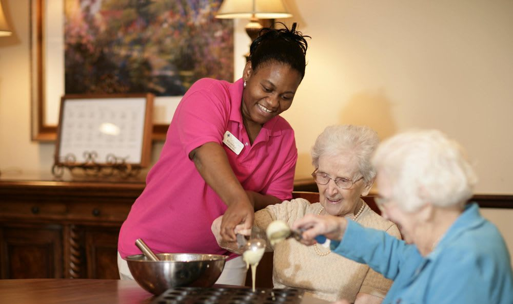 Cook with our wonderful staff at our senior living facility in Sterling Heights