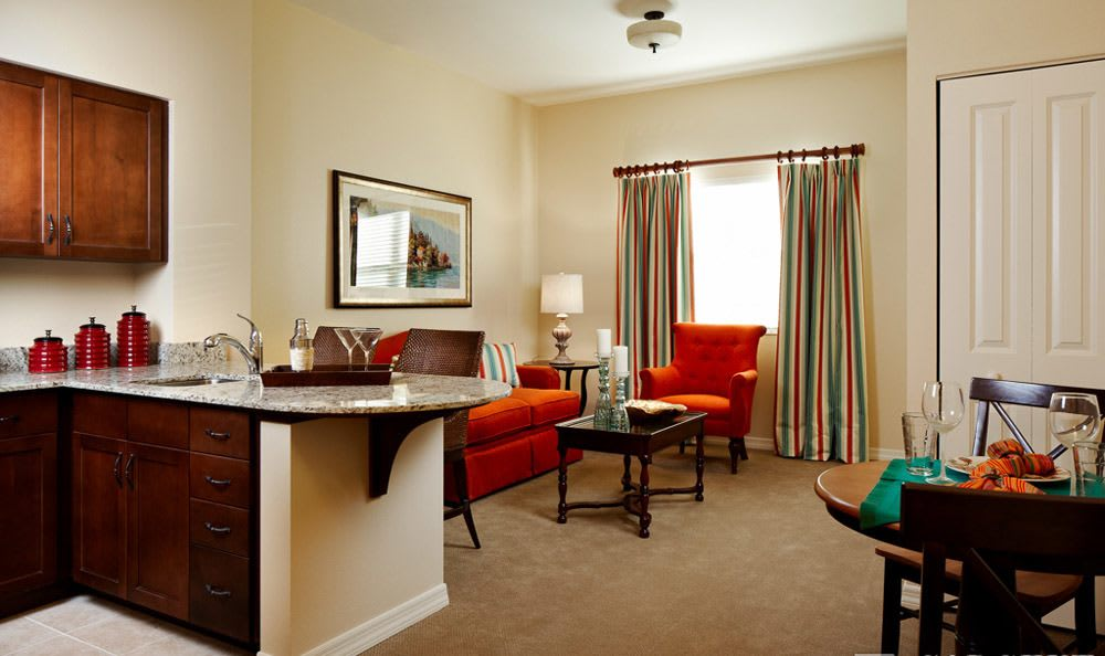 Our Lady Lake senior living facility personal room
