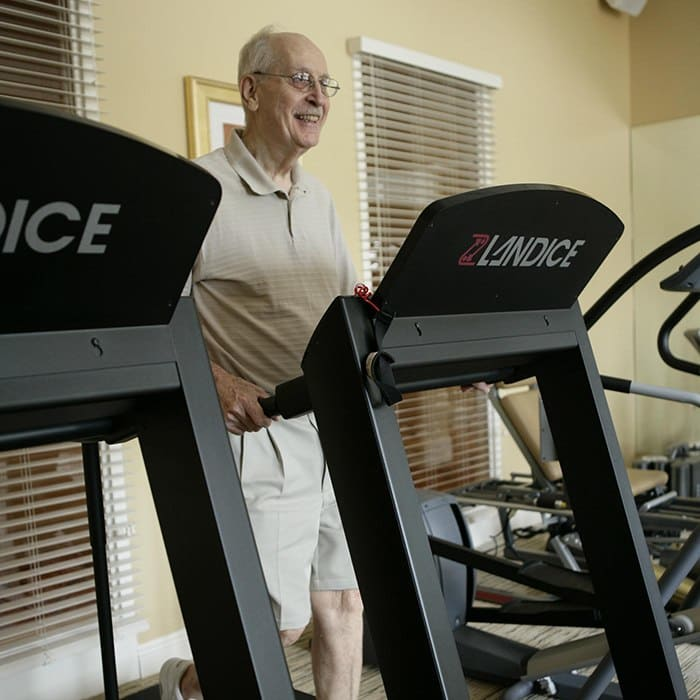 resident treadmill expert at HarborChase