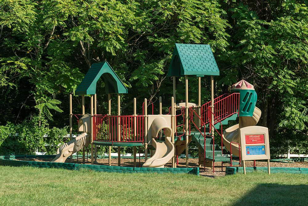 The kids will love the playground at Ellicott Grove.