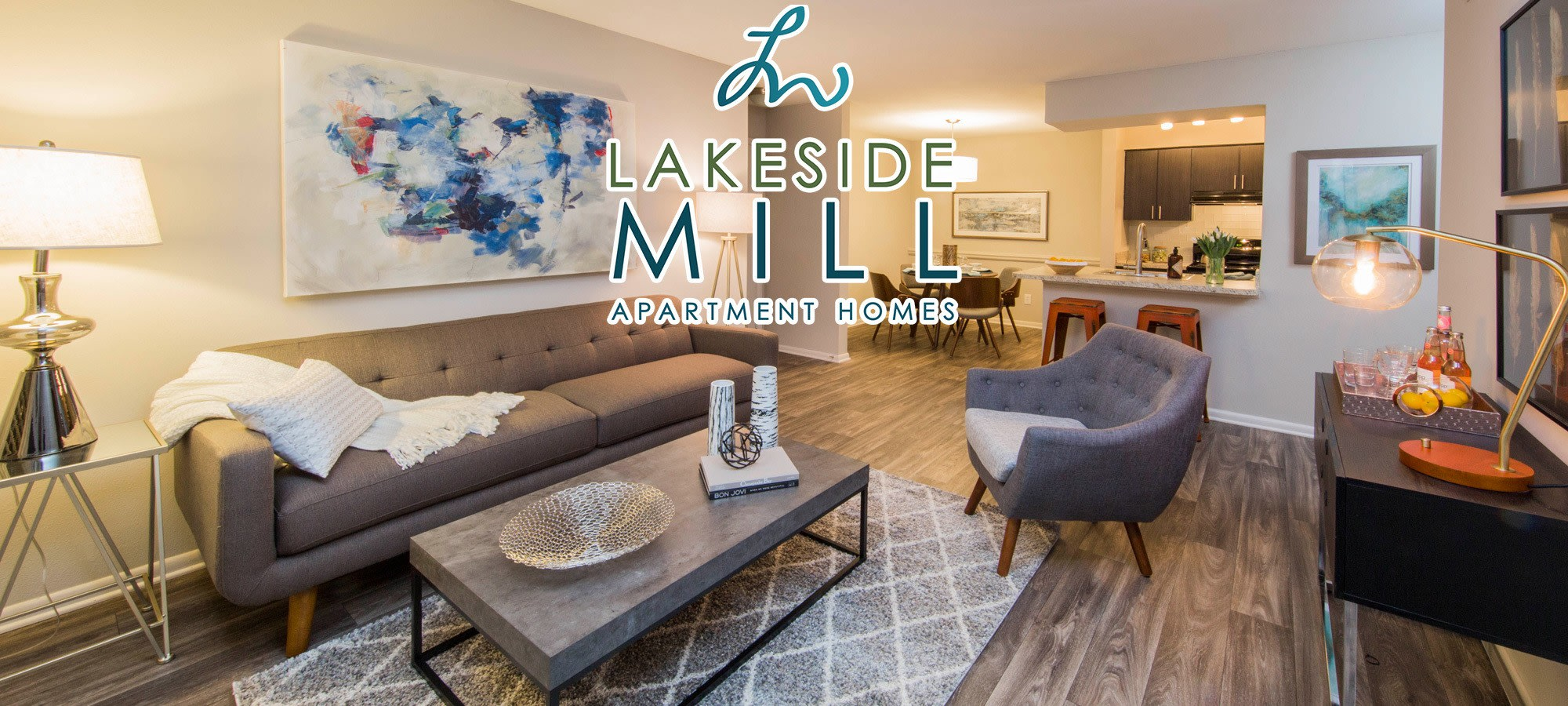 Apartments in Lakeside Mill.