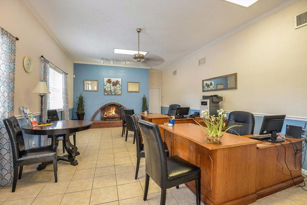 Business center at Townsend Apartments in Jacksonville, Florida