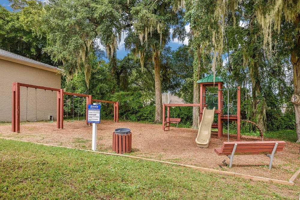A play area at Townsend Apartments in Jacksonville, Florida