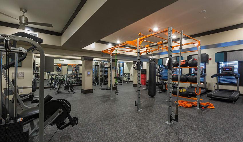 On-site fitness center at Integra River Run in Jacksonville
