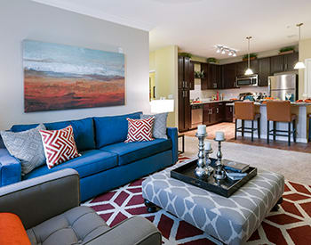Our apartment homes' open floor plans will delight you at Jacksonville, FL