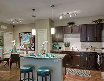 Luxurious open kitchen at Integra River Run in Jacksonville