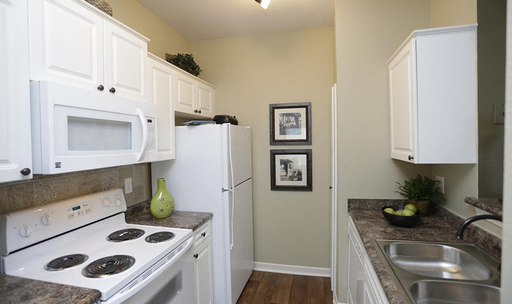 Spacious kitchen at apartments in Overland Park