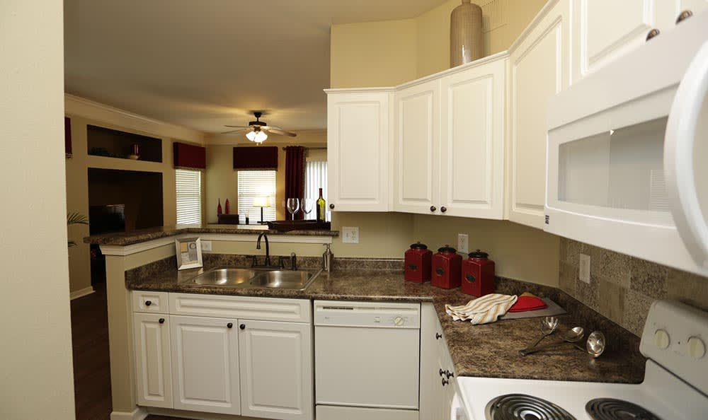 Kitchen at Lexington Farms Apartment Homes in Overland Park
