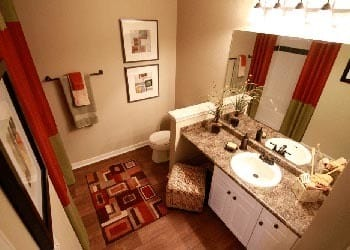 Bathroom at Lexington Farms Apartment Homes in Overland Park