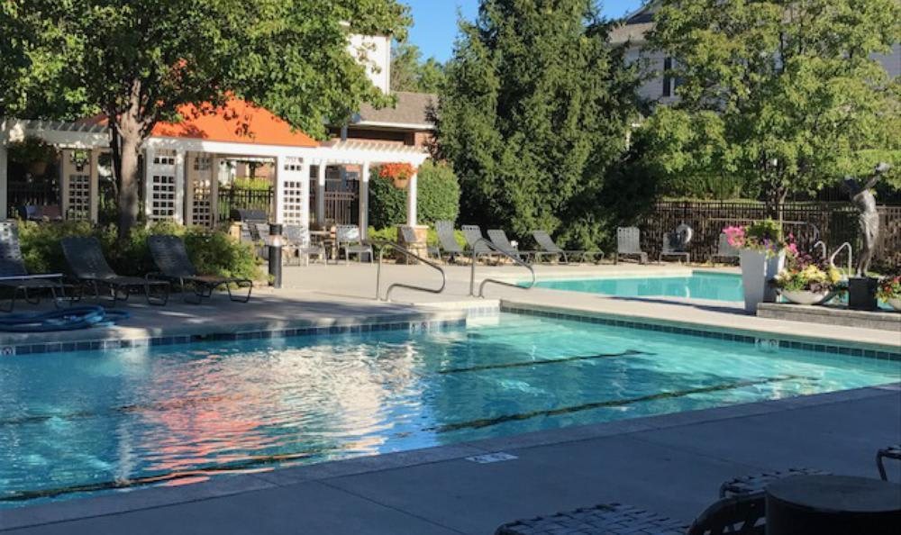 View of the pool at Lexington Farms Apartment Homes in Overland Park