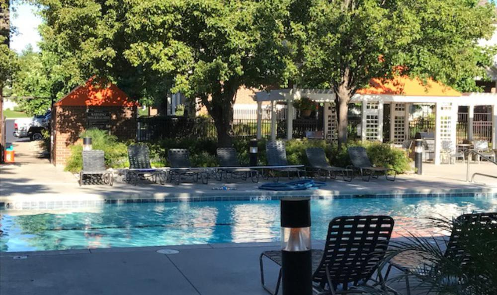 Pool lights at Lexington Farms Apartment Homes in Overland Park