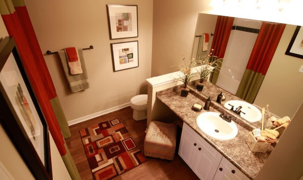 Bathroom at Lexington Farms Apartment Homes in Overland Park